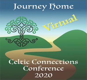 Logo for virtual Celtic Connections Conference:  Journey Home