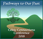 Celtic Connections Conference logo:  Pathways to Our Past